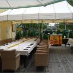 taras w hotelu Trzy Światy w Gliwicach