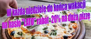 Pizza w hotelu 3 Światy Gliwice, 20% rabatu pizza, pizza letni ogródek Światy Gliwice,